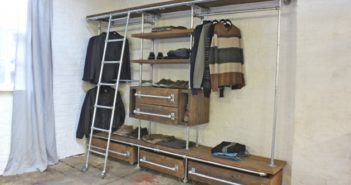Upcycled Pipe Wardrobe Dressing Shelves