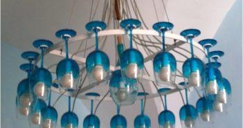 Wine Glass Chandelier Ideas