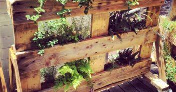 wood pallet garden planter