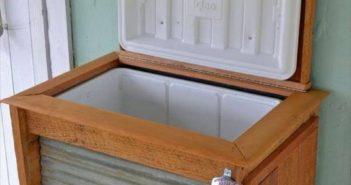 pallet wood cooler