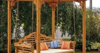 patio pergola swing