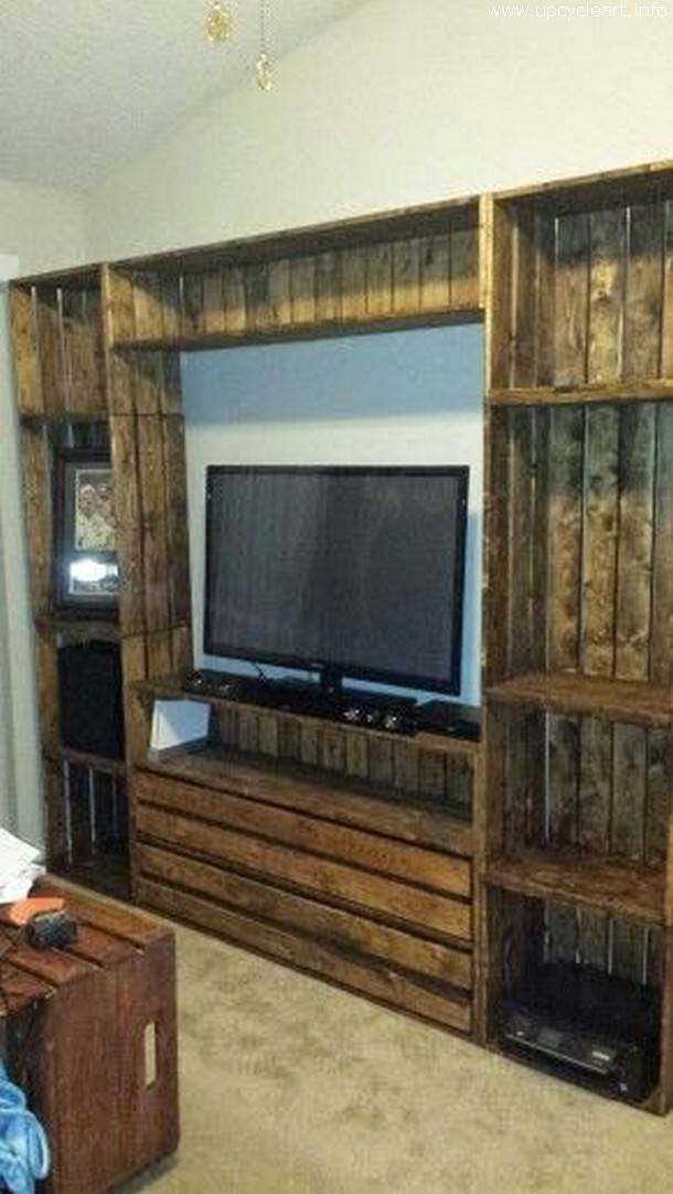diy pallet entertainment center 50 diy pallet ideas upcycle 678