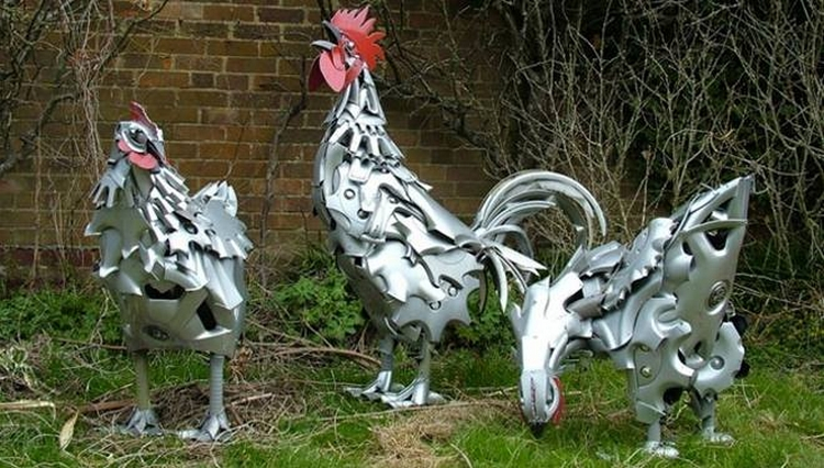 Sculptures Made From Recycled Bicycle Parts Upcycle Art