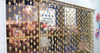 reused wine corks curtain