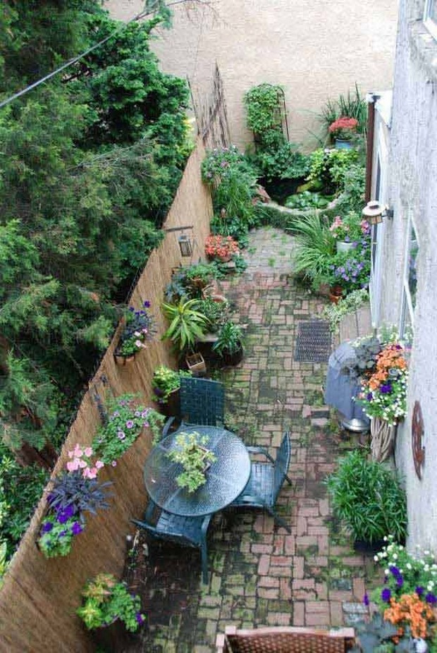 Ideas for Narrow and Long Patio Spaces | Upcycle Art on Long Narrow Yard Landscape Design Ideas id=65575
