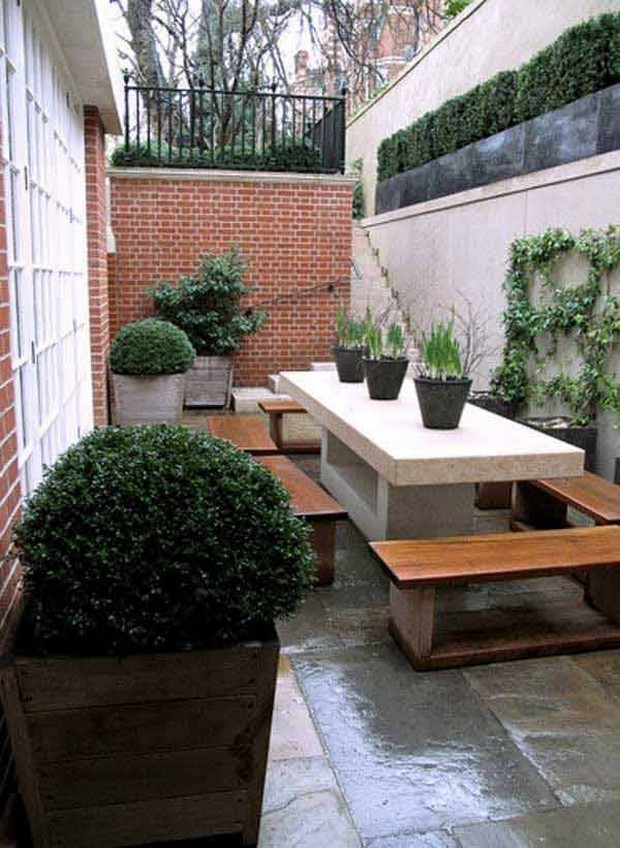 Ideas for Narrow and Long Patio Spaces | Upcycle Art on Narrow Backyard Landscaping Ideas id=74752